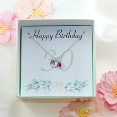 30th Birthday Gift Necklace,Personalized 30th Gift