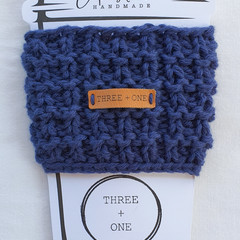 100% COTTON CUP SLEEVE - Navy Blue