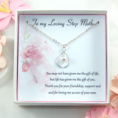 Step Mother Necklace, Gift for Step Mother,Step Mother Appreciation Gift