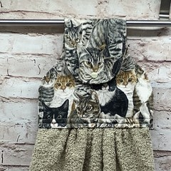 Cats Hanging Hand Towel