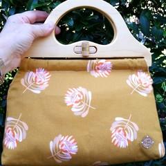 Mustard protea handbag