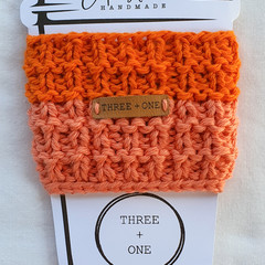 100% COTTON CUP SLEEVE - Tangelo Crush/Peach