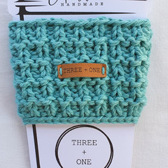 100% COTTON CUP SLEEVE - Light Teal