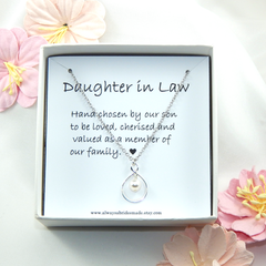 Daughter In Law Gift, Daughter in Law Necklace