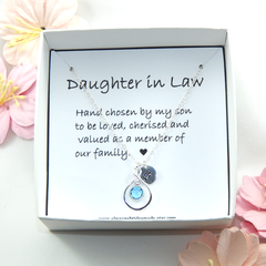 Daughter In Law Personalized Necklace,Gift for Daughter In Law
