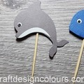 Sea Creatures Cupcake Toppers