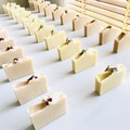 Shea Butter Rose Geranium Soap + Organic Calendula Petals | Vegan