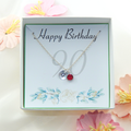 Personalized 90th Birthday Necklace gift,Birthstone Necklace
