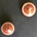 A Pair of 'Dead Finish' aka Kurara Decorated Spinning Tops (Item 126 a & b)