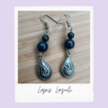 Lapis Lazuli Teardrop Gemstone Dangle Earrings