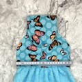 Blue Butterflies Hanging Hand Towel