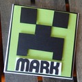 Personalised Minecraft Card