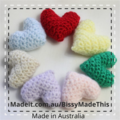Crocheted heart for mum