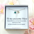 Niece Personalized Necklace Wing Necklace, Gift from Aunt,Niece Birthday Gift