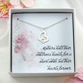 Mother Interlocking Heart Necklace,Mother's Day Gift,Heart Necklace for Mother,