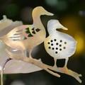 Two Ducks on a Log, Brass Garden Decoration
