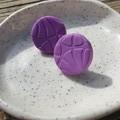 Purple textured studs