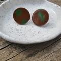 Brown & Green studs