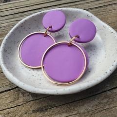 Purple & gold dangles
