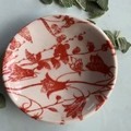 Bright Red Flowers Porcelain Bowl