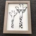 Giraffe framed image