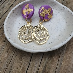 Purple & gold dangles
