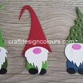 Xmas Gnomes x 3 (kit) Die Cut