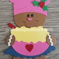 Gingerbread Girl Cook (kit) Die Cut