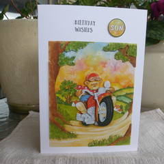 MALE CHILD'S BIRTHDAY CARD  -  (FREE POSTAGE)