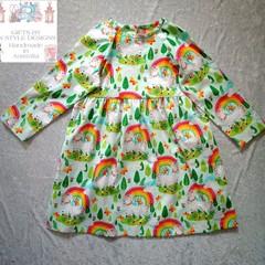 Unicorn dress long sleeved size 6