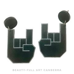 Rock On Earrings | Resin Jewellery | Statement Dangle Earrings
