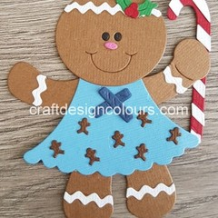Gingerbread Girl with Candy Cane (kit) Die Cut