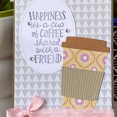 Coffee Friend Card -  friendship -  Birthday