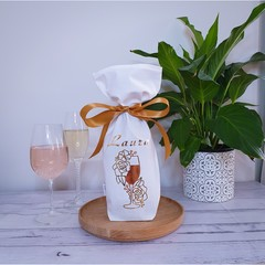 Personalised Wine Gift Bag | Reusable Fabric Gift Bag