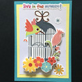 'Live in the moment' Birthday Card