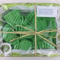 Newborn Baby Gift Set   Beanie / Hat   Pair Booties   Hand Knitted   Apple Green