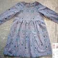Frozen dress long sleeved size 6