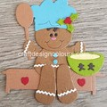 Gingerbread Boy Cook (kit) Die Cut
