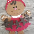 Gingerbread Girl with Garland (kit) Die Cut