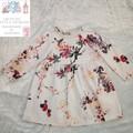 Long sleeved flower dress size 3
