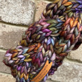 Child knitted cable headband Peruvian wool rainbow newborn to 3 years toddler gi