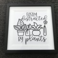 Easily distracted by plants frame