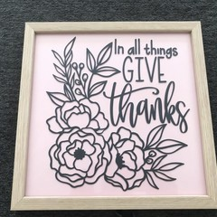 in all things give thanks frame