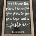 Framed verse- Jeremiah 29:11