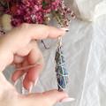 Rainbow Aura Kyanite pendant - Silver 70cm