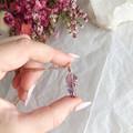 Amethyst pendant - Rose Gold 50cm