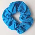 Blue with Blue Spots Scrunchy