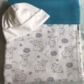 Baby Blanket Lambs Turquoise