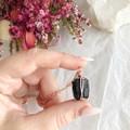 Black Tourmaline pendant - Rose Gold 45cm