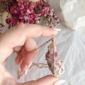 Rare Pink Tourmaline in Quartz pendant - Rose Gold 80cm